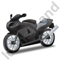 Motorcycle Black Icon