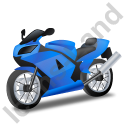 Motorcycle Blue Icon