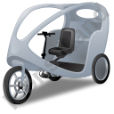 Pedicab Grey Icon