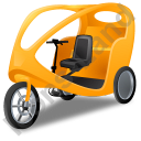 Pedicab Yellow Icon, PNG/ICO, 128x128