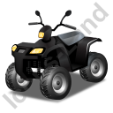 Quad Bike Black Icon