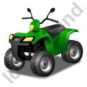 Quad Bike Green Icon, PNG/ICO, 128x128