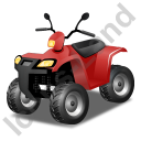 Quad Bike Red Icon, PNG/ICO, 128x128