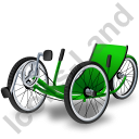 Recumbent Trike Icon, AI, 128x128