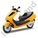 Scooter Yellow Icon, PNG/ICO, 128x128