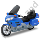 Touring Motorcycle Blue Icon, PNG/ICO, 128x128