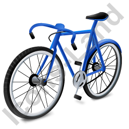 Bicycle Blue Icon, PNG/ICO, 256x256