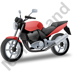 Cruiser Motorcycle Red Icon, PNG/ICO, 256x256