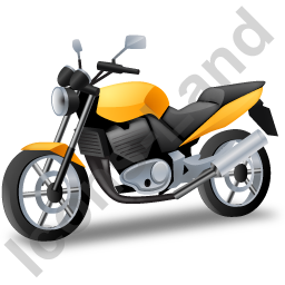 Cruiser Motorcycle Yellow Icon