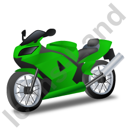 Motorcycle Green Icon