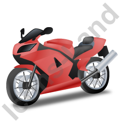 Motorcycle Red Icon