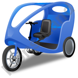 Pedicab Blue Icon, PNG/ICO, 256x256