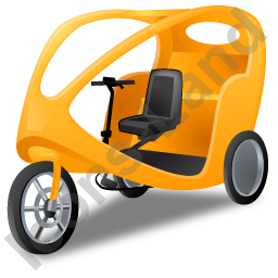 Pedicab Yellow Icon, PNG/ICO, 256x256
