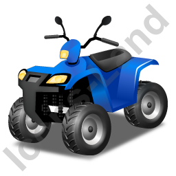 Quad Bike Blue Icon
