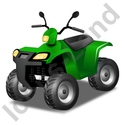 Quad Bike Green Icon, PNG/ICO, 256x256