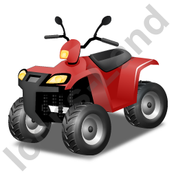 Quad Bike Red Icon, PNG/ICO, 256x256