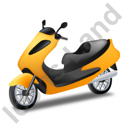 Scooter Yellow Icon, PNG/ICO, 256x256