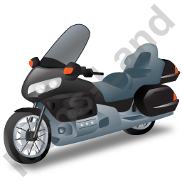 Touring Motorcycle Black Icon, PNG/ICO, 256x256