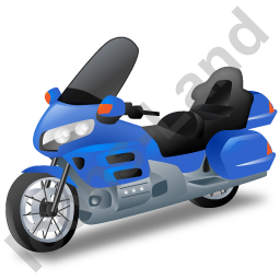 Touring Motorcycle Blue Icon, PNG/ICO, 256x256
