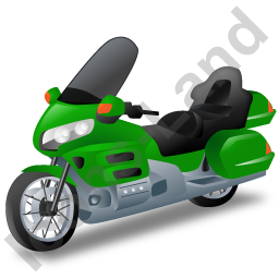 Touring Motorcycle Green Icon, PNG/ICO, 256x256