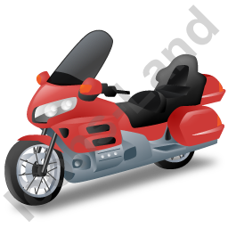Touring Motorcycle Red Icon