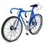 Bicycle Blue Icon, PNG/ICO, 64x64