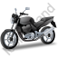 Cruiser Motorcycle Black Icon