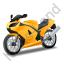 Motorcycle Yellow Icon