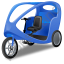 Pedicab Blue Icon, PNG/ICO, 64x64