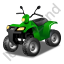 Quad Bike Green Icon, PNG/ICO, 64x64
