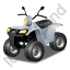 Quad Bike Grey Icon