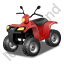 Quad Bike Red Icon