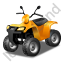 Quad Bike Yellow Icon
