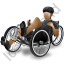 Recumbent Trike Rider Black Icon