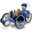 Recumbent Trike Rider Blue Icon
