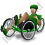 Recumbent Trike Rider Green Icon