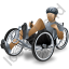 Recumbent Trike Rider Grey Icon
