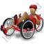 Recumbent Trike Rider Red Icon
