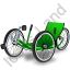 Recumbent Trike Green Icon