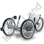 Recumbent Trike Grey Icon