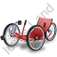 Recumbent Trike Red Icon
