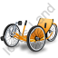 Recumbent Trike Yellow Icon