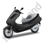 Scooter Black Icon