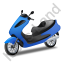 Scooter Blue Icon