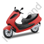 Scooter Red Icon