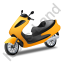Scooter Yellow Icon, PNG/ICO, 64x64
