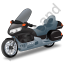 Touring Motorcycle Black Icon, PNG/ICO, 64x64