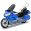 Touring Motorcycle Blue Icon, PNG/ICO, 64x64