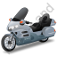 Touring Motorcycle Grey Icon