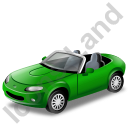 Cabriolet Green Icon